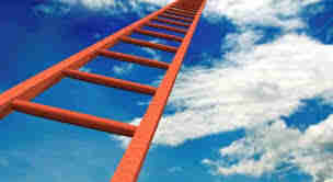 Religion is harsh and cruel with difficult ladders to climb.