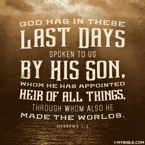 God speaks to us in Jesus
